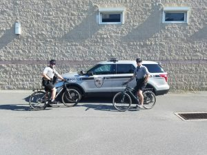 Officer Bare & Officer Joles on Bike Patrol