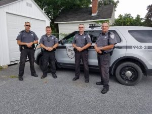 Dagsboro Police Force: Officer Joles, Officer Bare, Chief Toomey and Staff Sergeant Litten