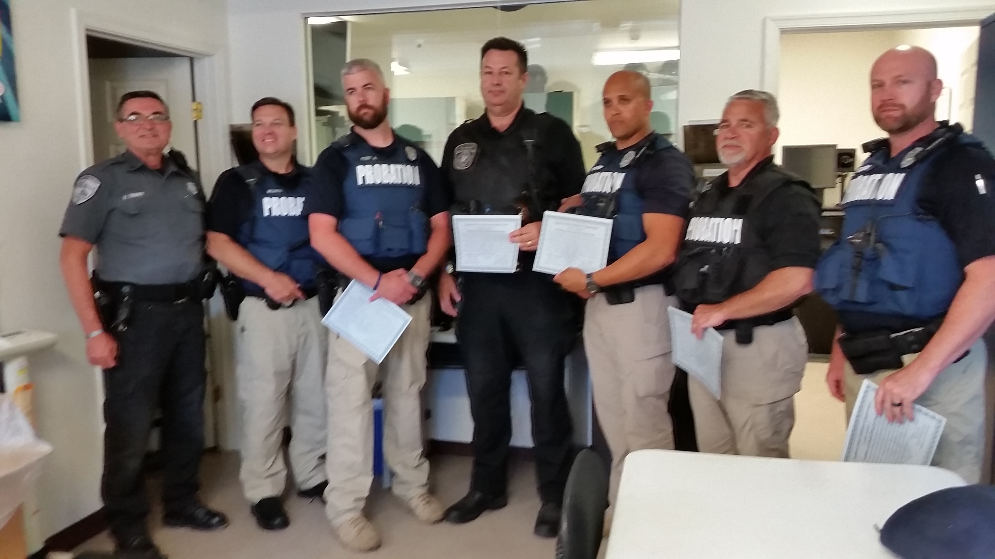 dagsboro police department awards certificates of appreciation to probation and parole officers. Black Bedroom Furniture Sets. Home Design Ideas